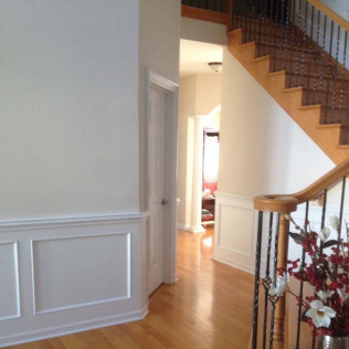 wood stair installation wheeling il