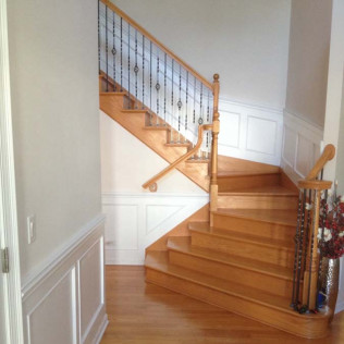 wood railing installation wheeling il